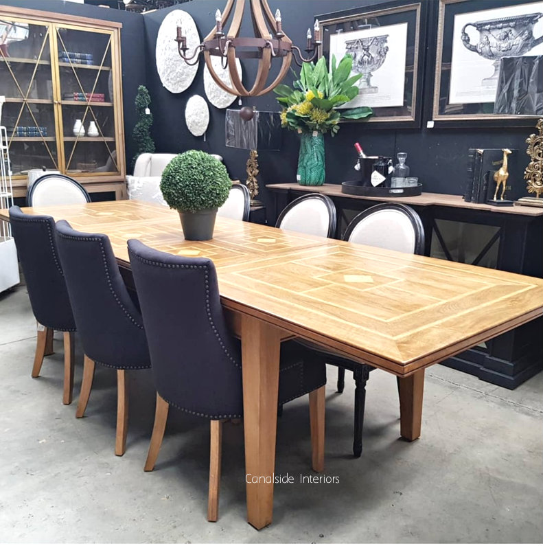 Florence Marble Inlay Extension Dining Table April Canalside Interiors