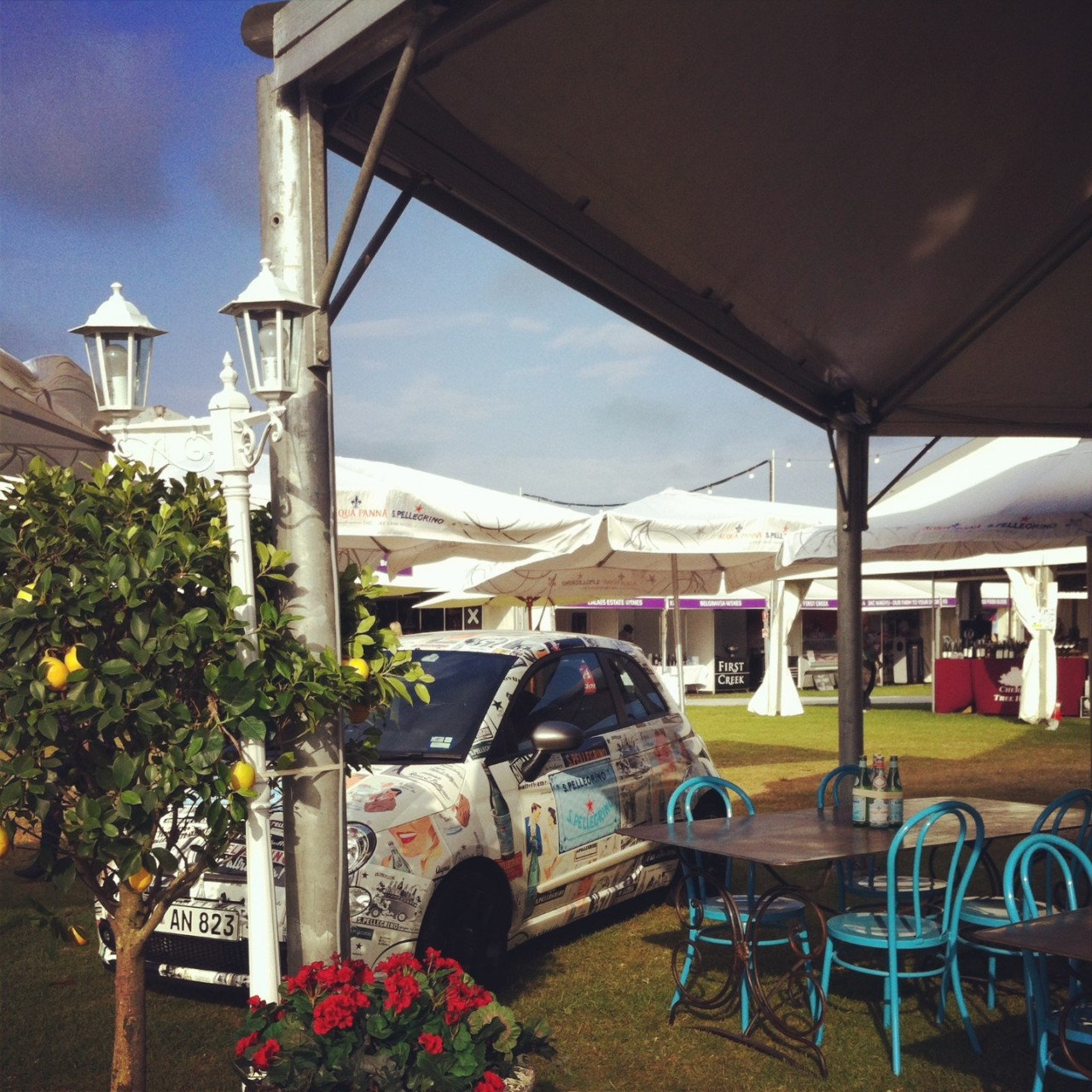 The Sanpellegrino stand at Sydney's Taste Festival.  Design & Creative magic by AZBcreative.  Furniture by Canalside Interiors.