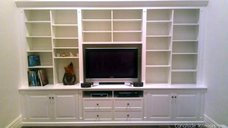 Bespoke TV / Entertainment Wall Unit Custom Made by Canalside Interiors