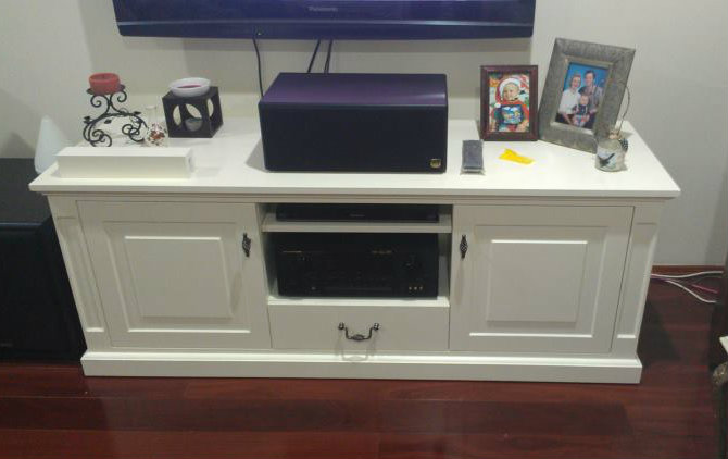 Bespoke TV Unit Custom Made by Canalside Interiors