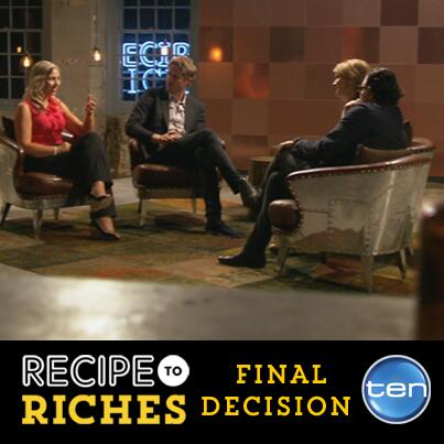On Set: Recipe to Riches features Canalside Interiors' furniture Image C/- https://www.facebook.com/reciperichesau