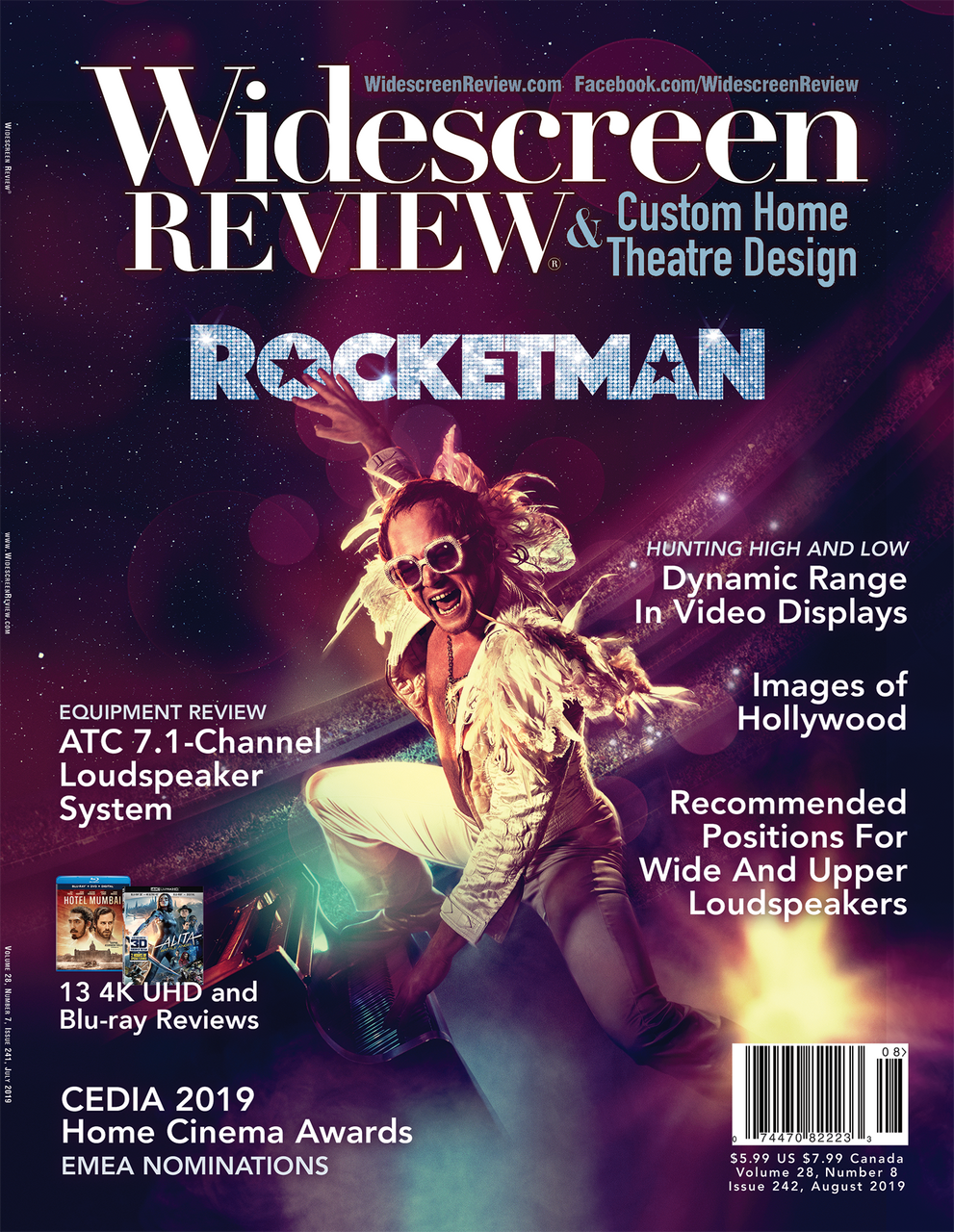 Widescreen Review Issue 242 - Rocketman (August 2019)