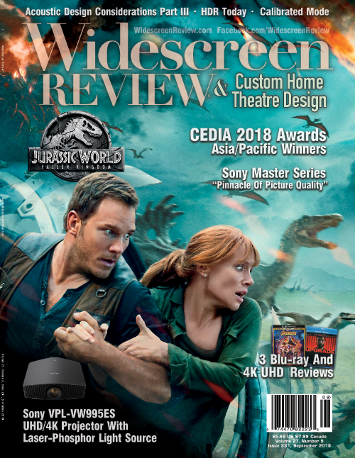 Widescreen Review Issue 231 - Jurassic World: Fallen Kingdom (September 2018)