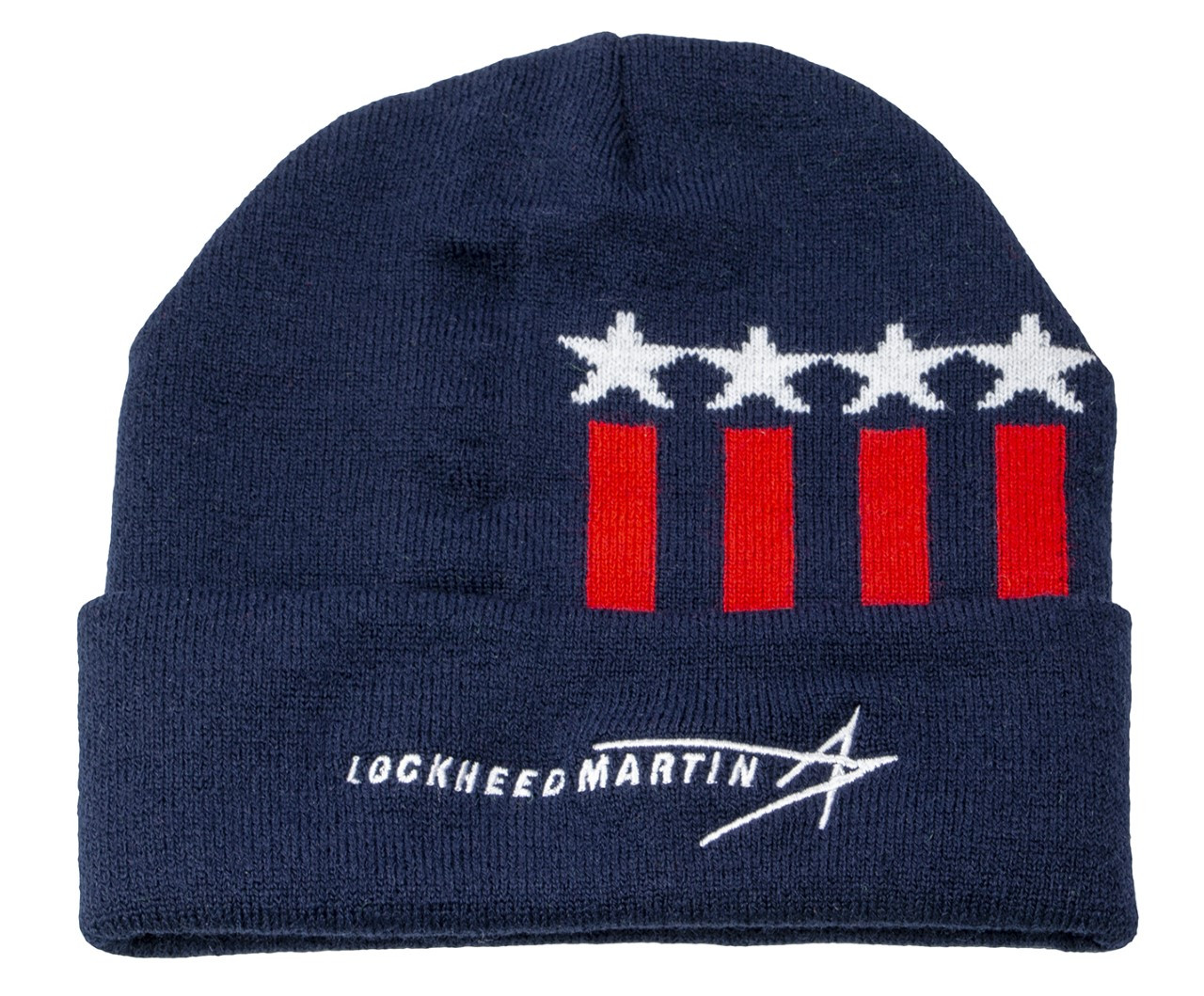 Stars & Stripes Knit Cap with Cuff (Made in the USA)
