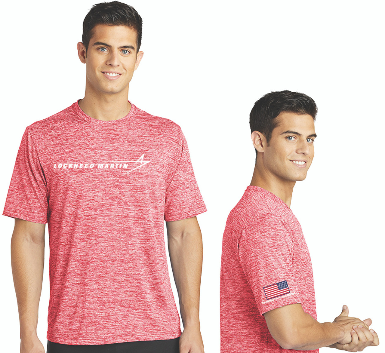 Remember Everyone Deployed Red Electric Heather Tee