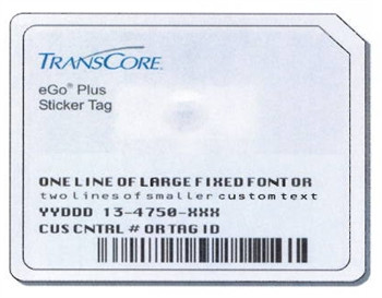 Transcore Ego Plus Windshield Tag