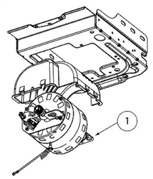 Motor Assembly w/Opto-Luctor, includes screws (Single