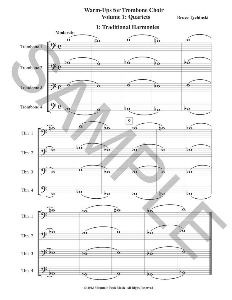 Warm-Ups for Trombone Choir, Volume One: Quartets