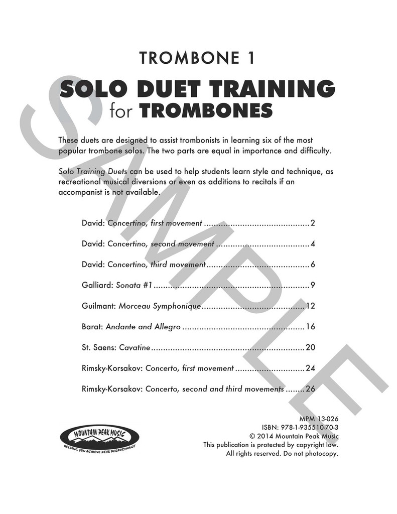 Solo Duet Training for Trombones
