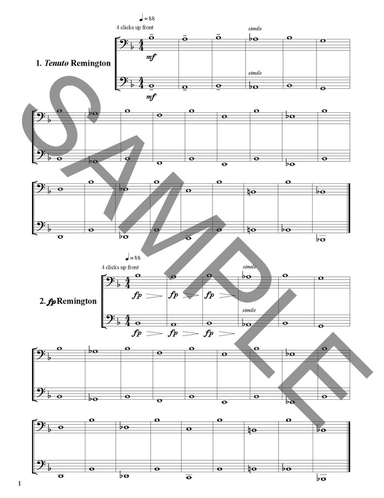 Long Tone Duets for Trombone: Style and Articulation - PDF/MP3 Download Version