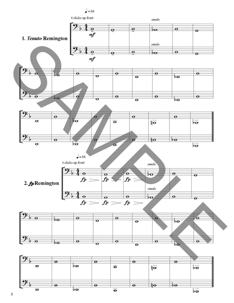 Long Tone Duets: Style and Articulation for Tuba - PDF/MP3 Download Version