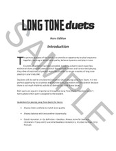 Long Tone Duets for Horn