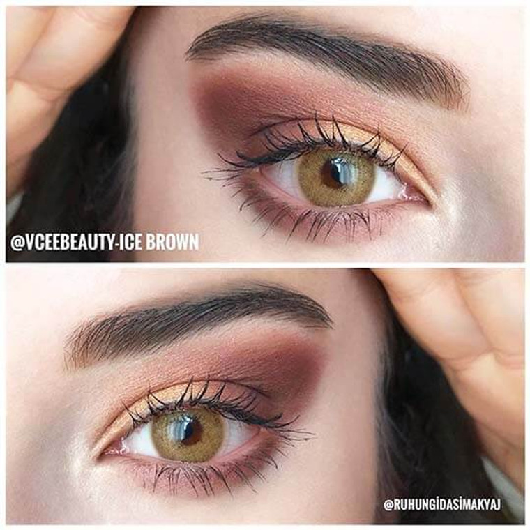 Buy Vcee Ice Brown Colored Contact Lenses Online