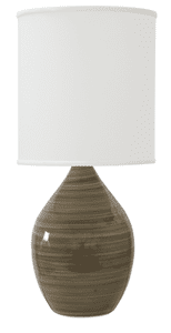 Scatchard Stoneware Table Lamp GS401-TE
