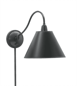 Hyde Park Adjustable Wall Swing Arm Lamp HP725-OB-BP