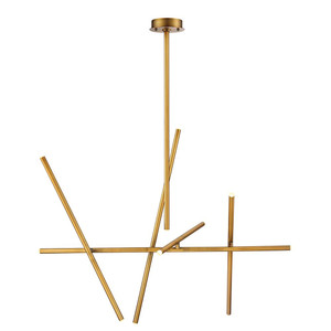 Eurofase Crossroads 10Lt Led Chandelier Antique Brass - 36250-035