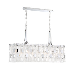 Eurofase Viviana 9Lt Chandelier Oval Chrome - 33743-011