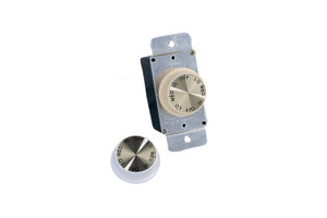 3 Speed Rotary Wall Control - Ivory and White - ESWC-1
