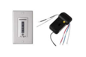 Hardwired wall remote control/receiver. Fan speed and downlight control. (non-reversing) - MCRC3