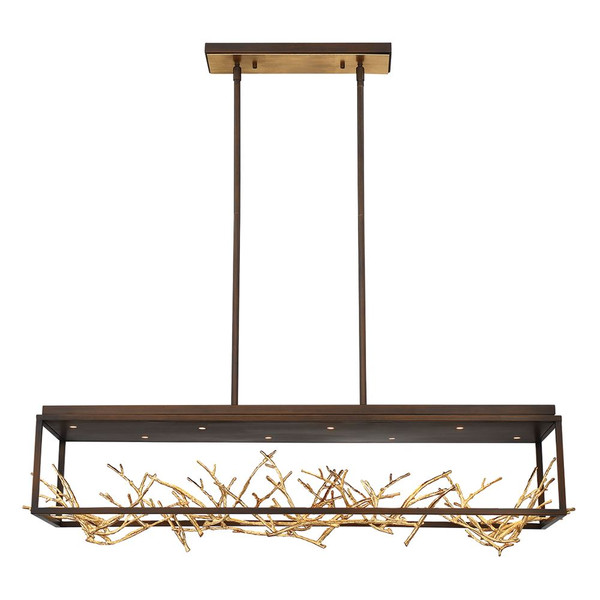 Eurofase Aerie 8Lt Led Rectangular Chandelier Bronze - 35642-015