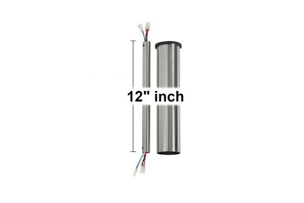 "12"" Minimalist Downrod - Brushed Steel - DRM12BS"
