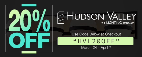 20% Off Hudson Lighting Promotion