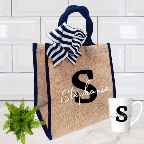 Monogram Tote and Cup1
