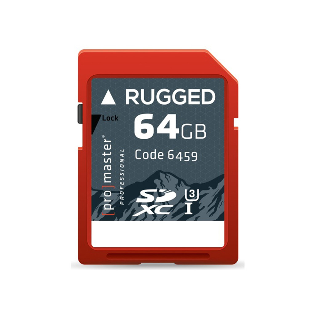 Rugged 64GB SDXC Memory Card