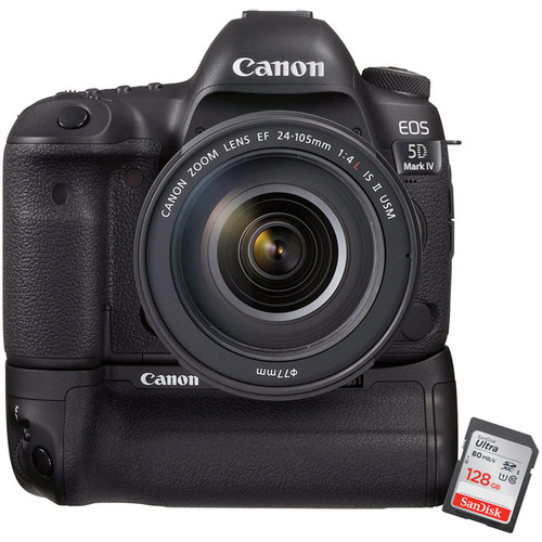 EOS 5D MK IV  Body w/Battery Grip + 128GB Memory Card
