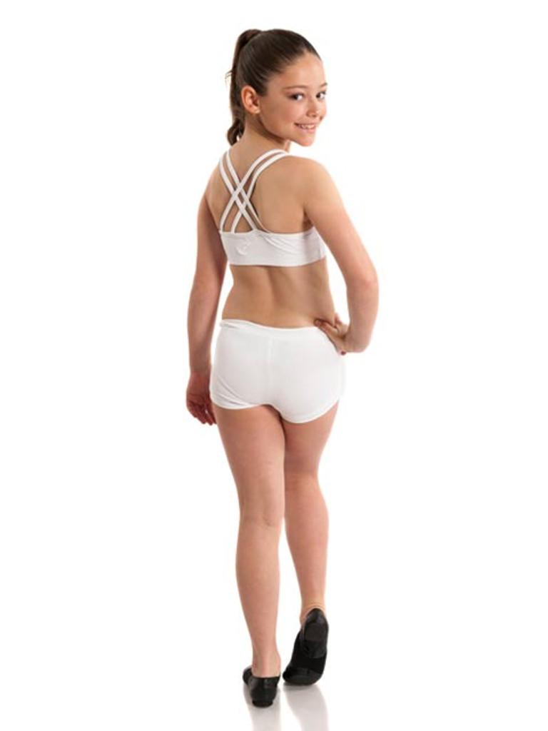 Energetiks Double Cross Roxy Crop Top Girls Dancewear