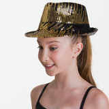 Studio 7 Dancewear Meteor Hat Metallic Gold