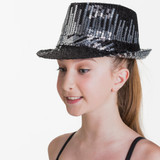 Studio 7 Dancewear Meteor Hat Metallic Silver