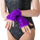 Studio 7 Dancewear Sequin Fingerless Gloves Adults