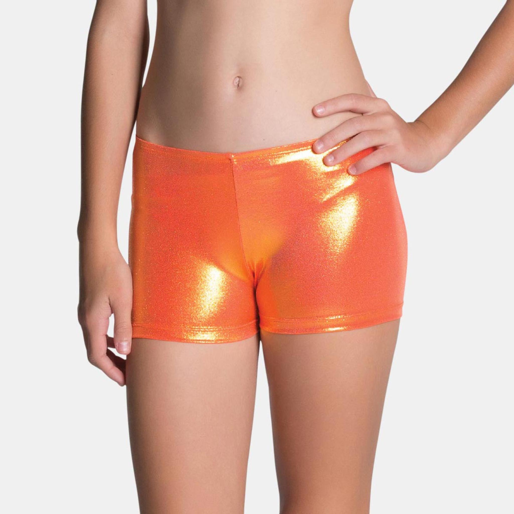 Sylvia P Mystique Gymnastics Shorts - Apricot