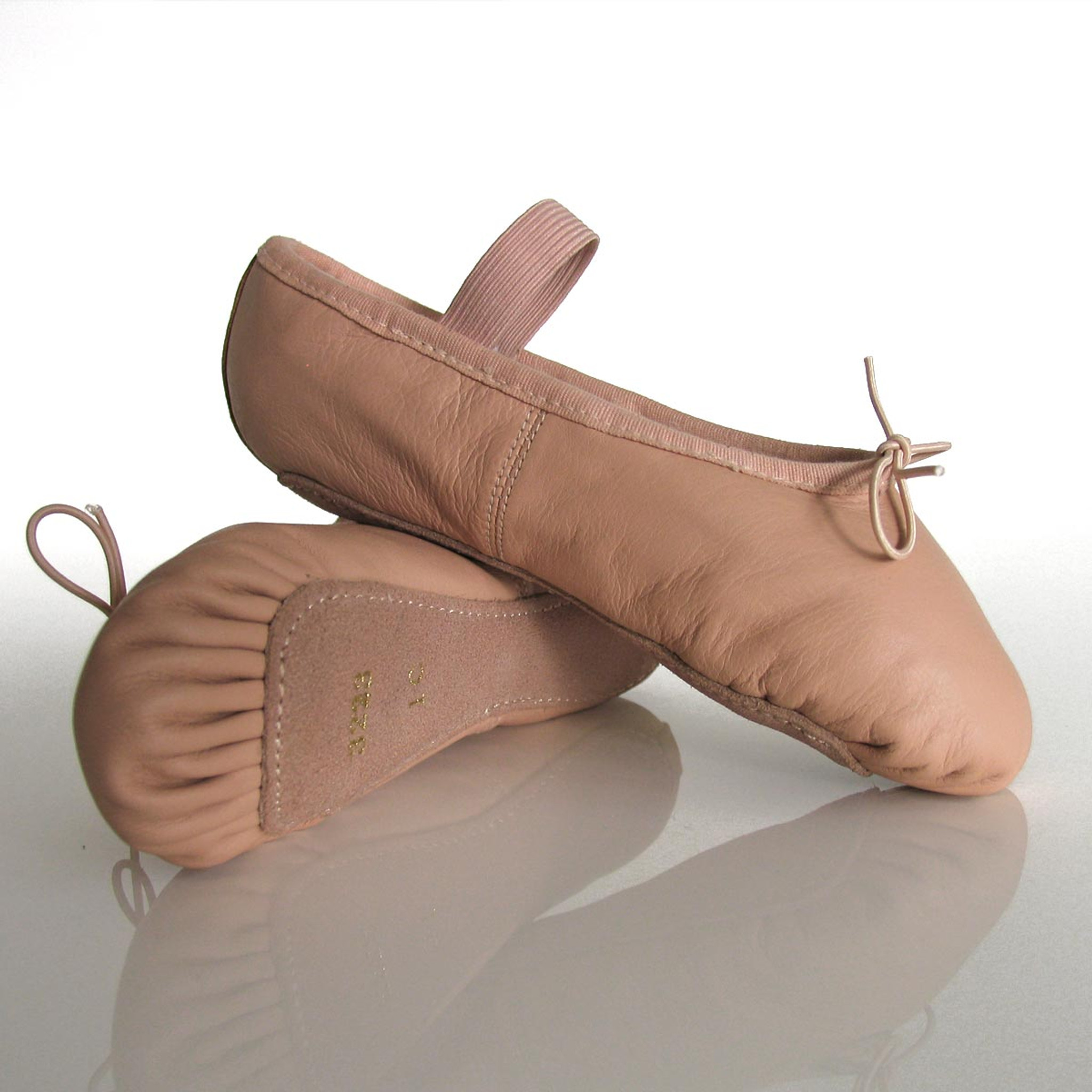 Dance Direct Ballet Shoes Full Sole Leather