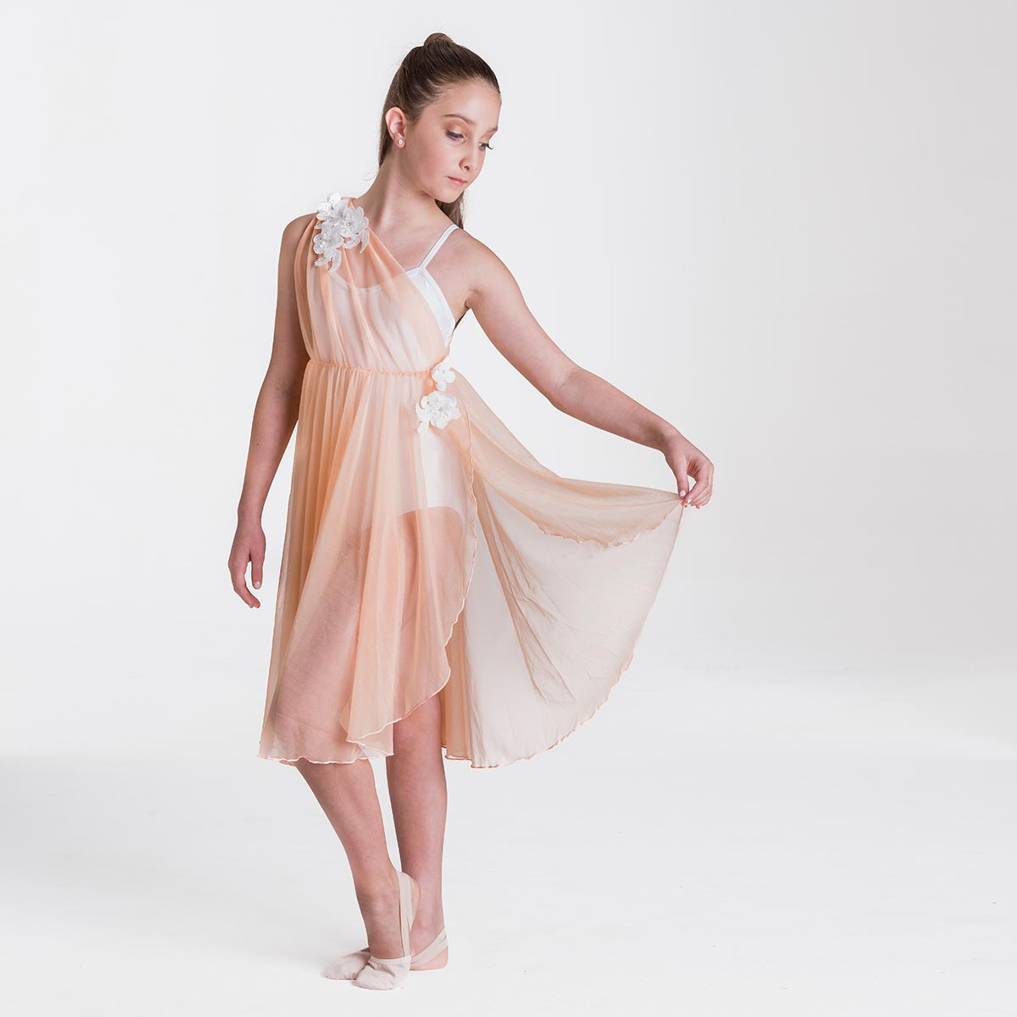 Studio 7 Dancewear Grecian Lyrical Dress Girls Apricot