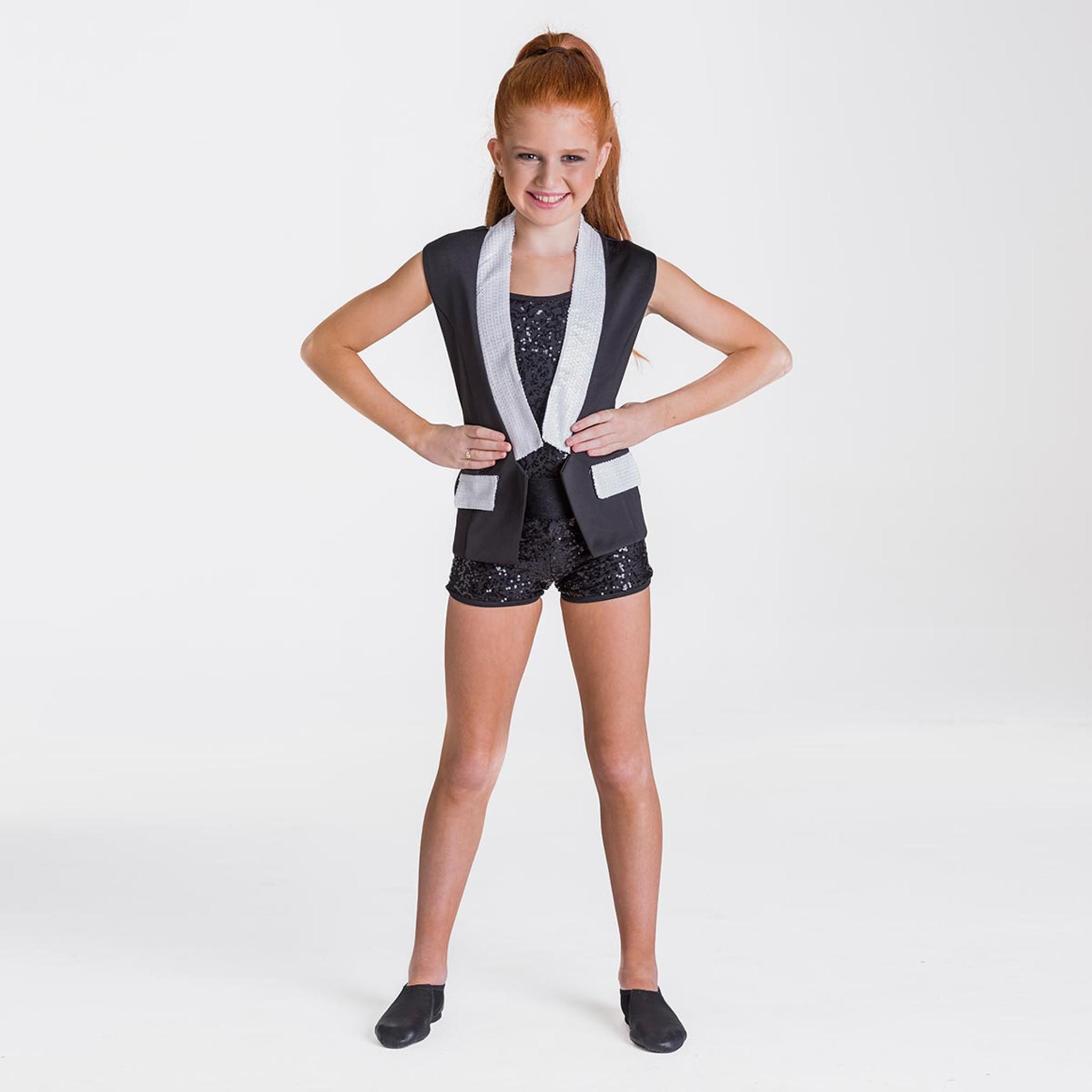Studio 7 Dancewear Sequin Waist Coat Jacket Girls