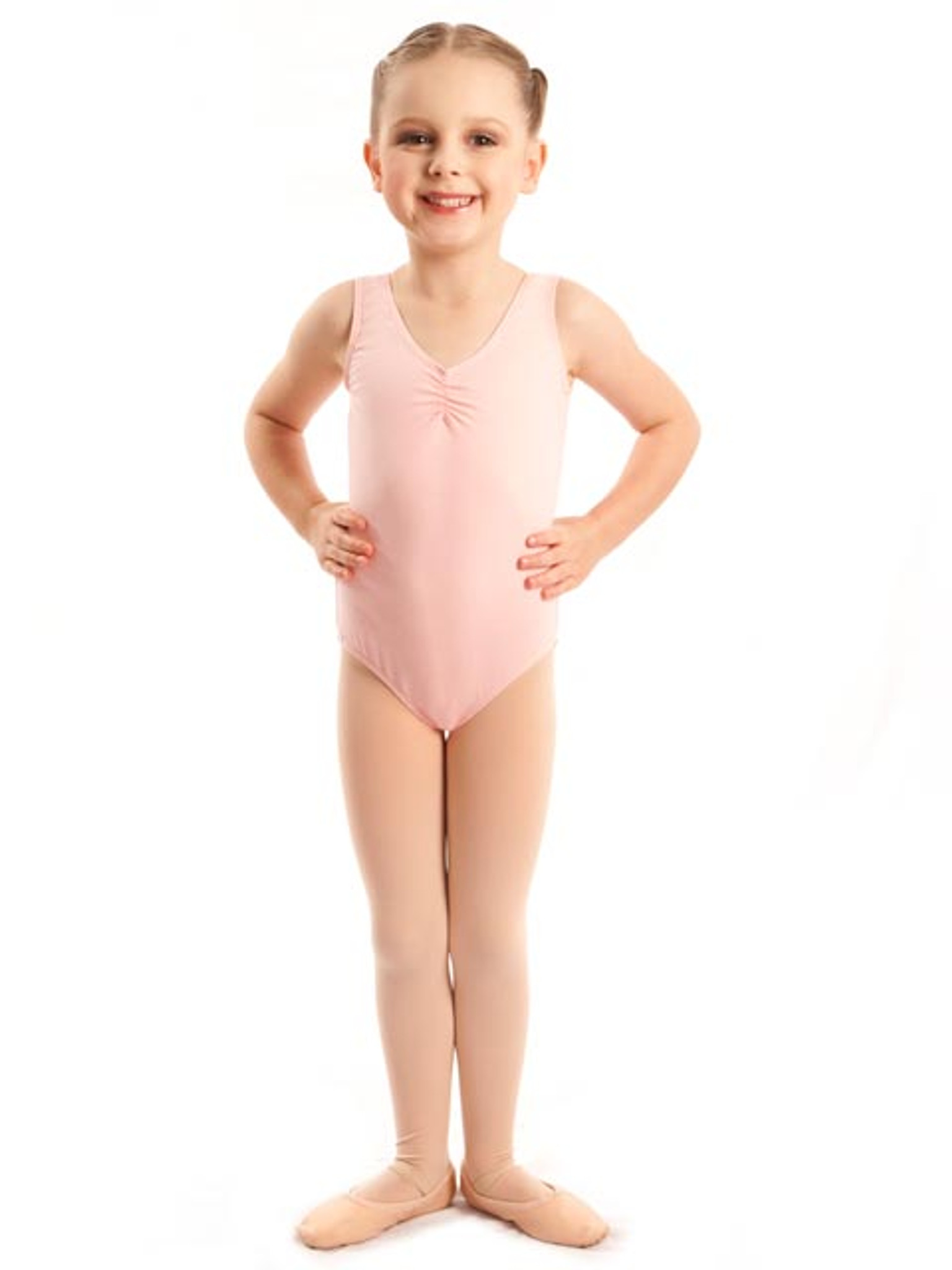 Energetiks Debut Gathered Front Leotard Girls