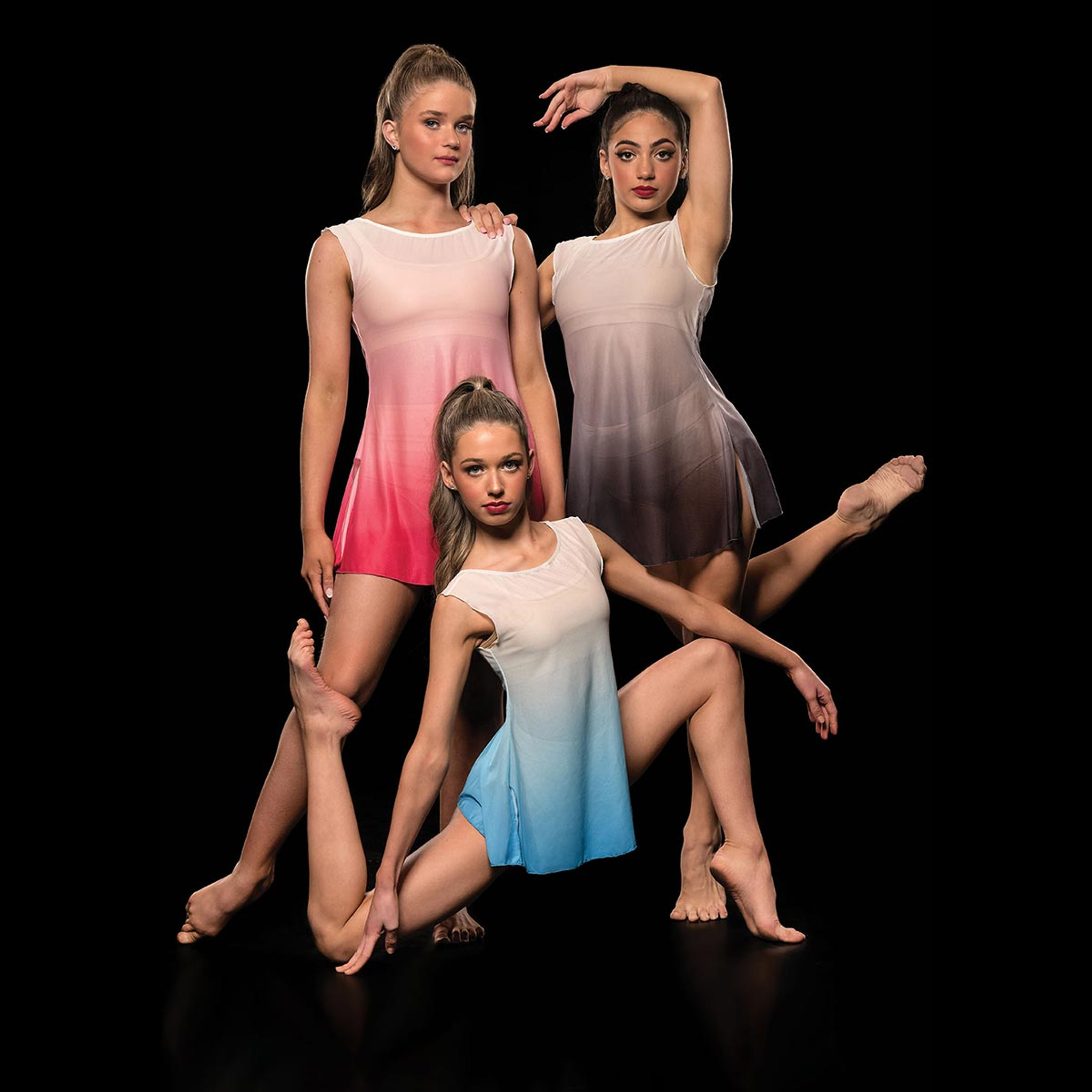 Studio 7 Dancewear Ombre Mesh Dress Childs