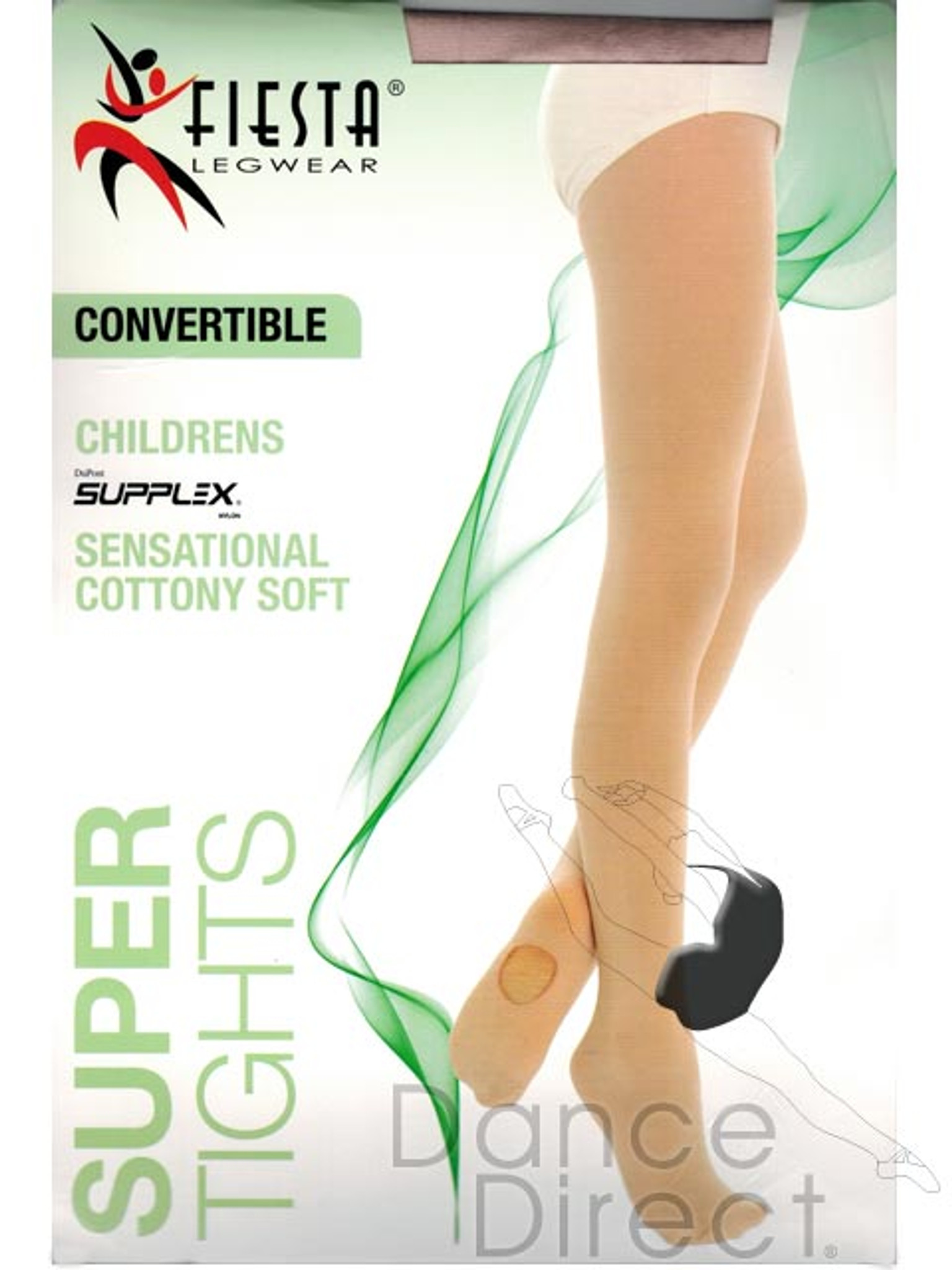 9dd1271bd4f42e Fiesta Matte Supplex Super Convertible Tights - Girls - DANCE DIRECT®