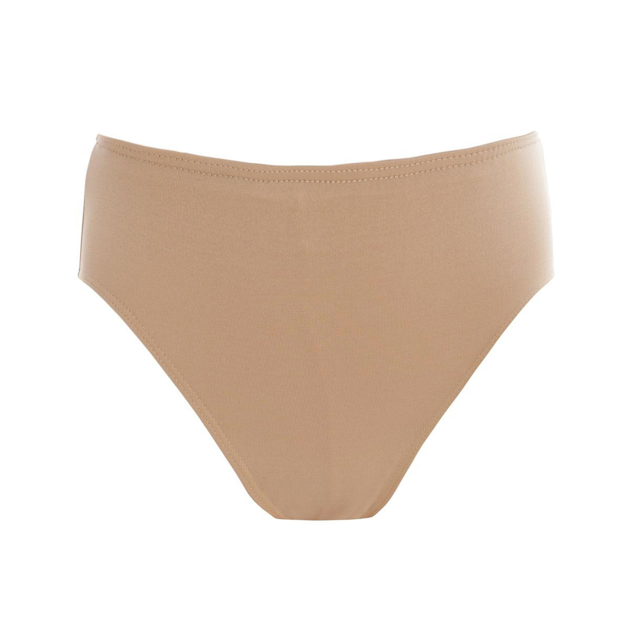 Ladies size Extra Large Seamless Dance High Cut knickers briefs Nude//Natural