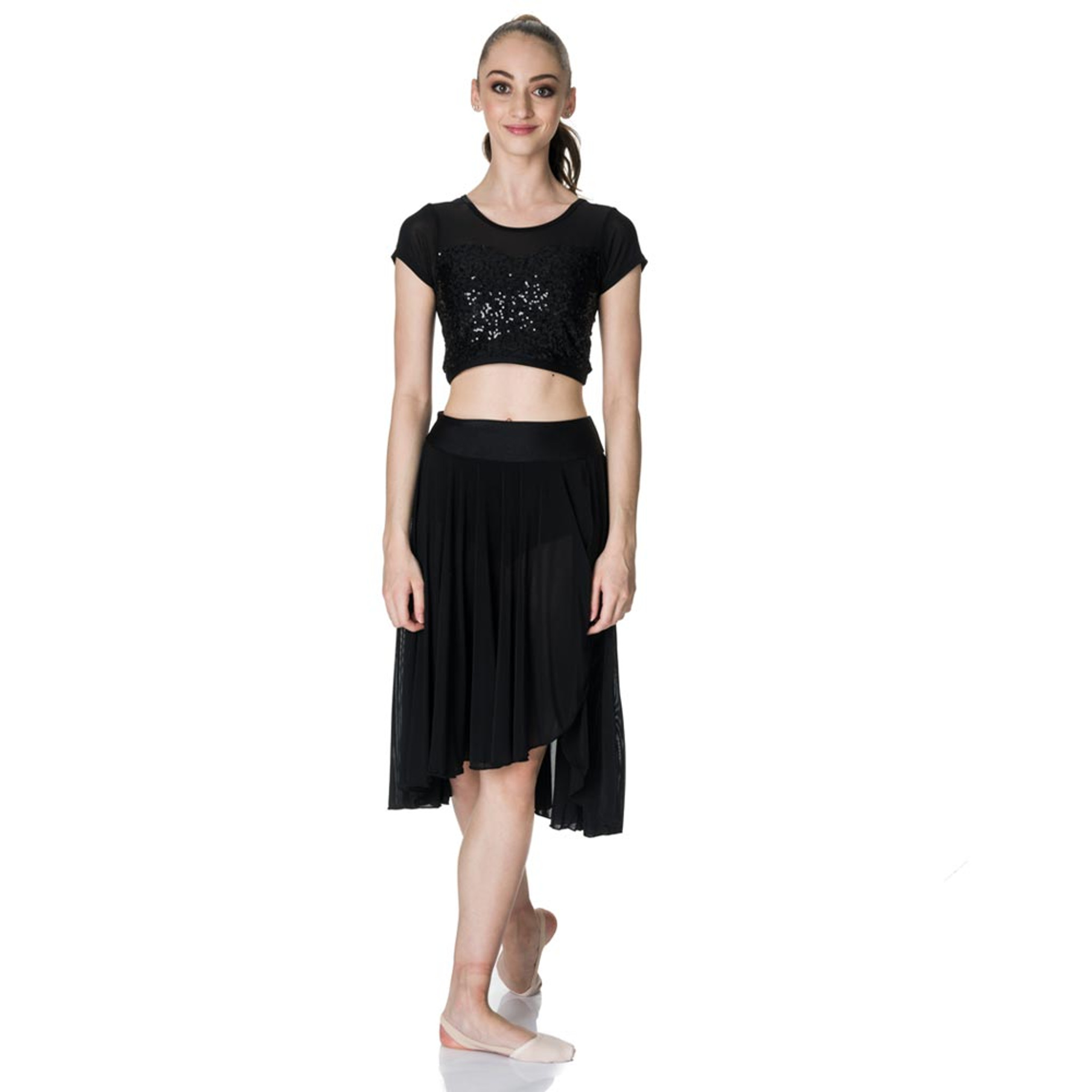 Studio 7 Dancewear Attitude Sequin Crop Top Ladies