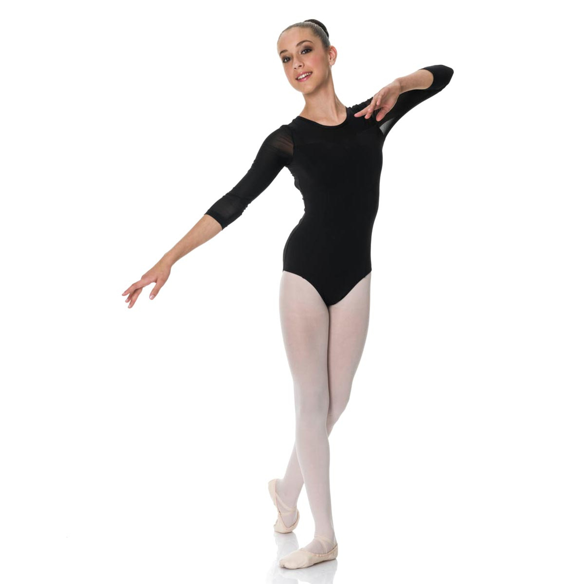 263ef8abe Studio 7 Dancewear Michaela 3 4 Mesh Sleeve Leotard Ladies - DANCE ...