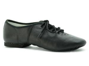 Dance Direct Jazz Shoes Split Sole Lace Up Leather