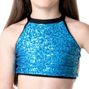 Studio 7 Dancewear Bright Lights Halter Crop Top - Girls