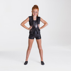 Studio 7 Dancewear Sequin Waist Coat Jacket Adults