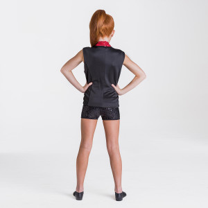 Studio 7 Dancewear Sequin Waist Coat Jacket Adults