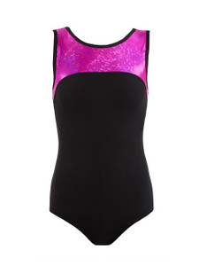 Energetiks Shattered Glass Boat Neck Leotard Girls