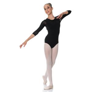 Studio 7 Dancewear Michaela 3/4 Mesh Sleeve Leotard  Girls