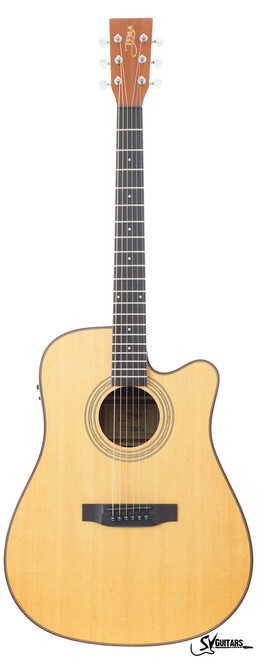 Tyma HDCE-100 NS Acoustic Guitar w/ Fishman Isys+ EQ